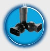 Multi-directional Output Nozzle - Twin output nozzles can be adjusted to create specific water flows.