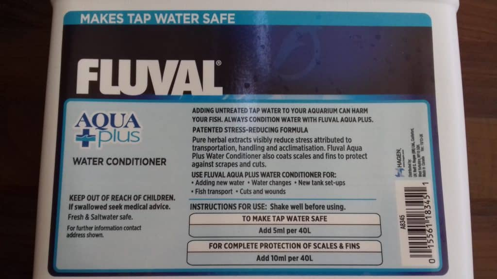 Fluval aquaplus water conditioner review tropical fish site for How to make tap water safe for fish without conditioner